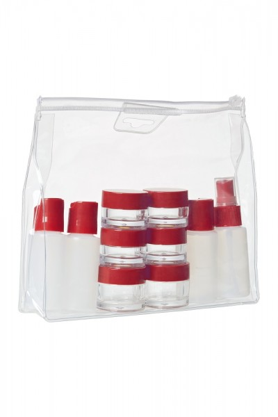 WENGER Reiseflaschen Set 10teilig, weiß/rot, 604548